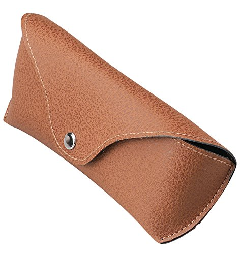 M-world Semi-Hard Eye Glasses Case for Classic Sunglasses ( RB3025 RB3016 RayBan etc. ) brown