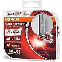 Osram Xenarc Night Breaker Laser D2S, +200 % mehr Helligkeit, HID Xenon-Scheinwerferlampe, 66240XNL-HCB, Duo Box (2 Lampen)