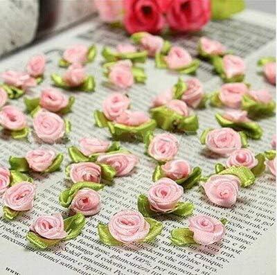 5 x Large Gold Ribbon and Rose Flower Embellishments Craft Wedding Bunting Sew
