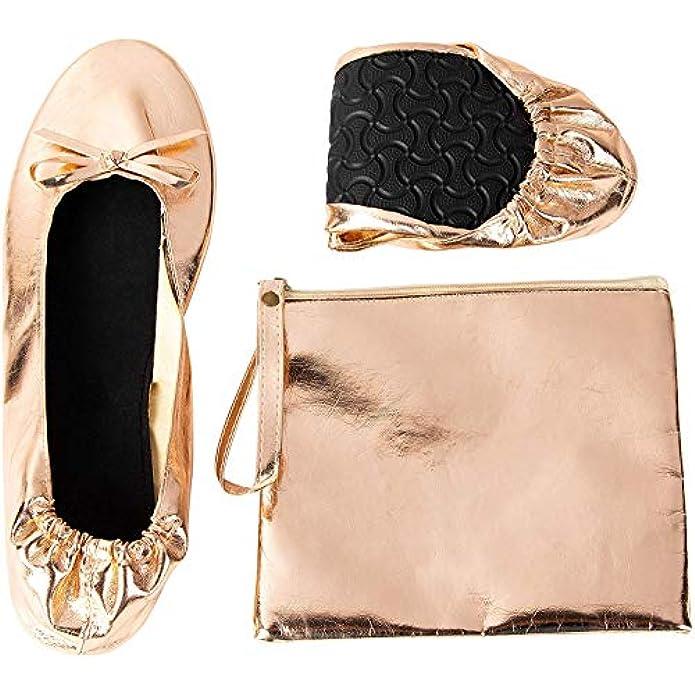 Foldable Ballet Flats - Women's Portable Ballerina Roll up Shoes