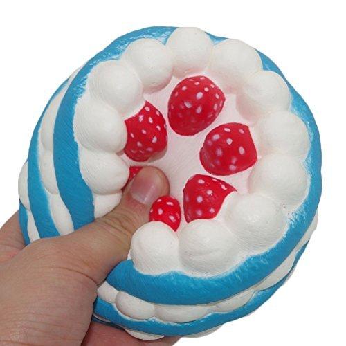 Vipe Slow Rising Squishy Slice Cake Cream Scented Slow Rising Hand Wrist Toy Color Random