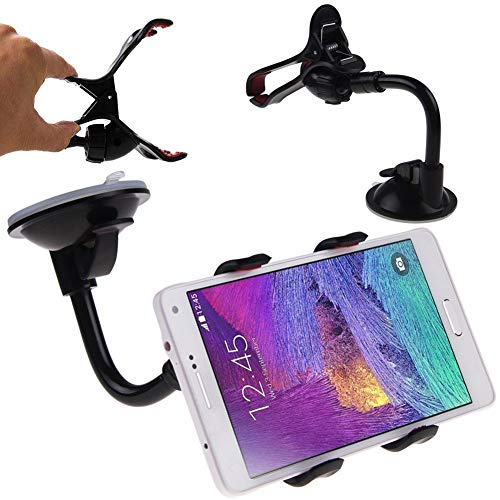 I9100 Cell Phone (FidgetKute Universal Flexible Rotate View Car Mount Holder Clip for Mobile Phone GPS MP3 Samsungf Galaxy S2 i9100 T989)