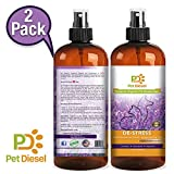 Pet Diesel 2 Pack | Premium Lavender Pet Deodorizer | Pet Cologne | Pet Perfume | Deodorant w/Enzymes, Lavender, Marjoram & Chamomile Scent | Odor Elimination & Bacteria Removal | For Dogs and Cats