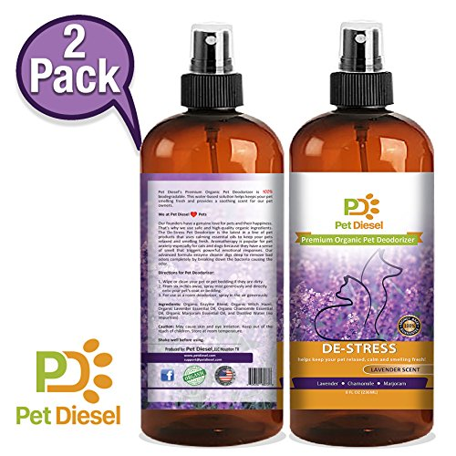 Pet Diesel 2 Pack | Premium Lavender Pet Deodorizer | Pet Cologne | Pet Perfume | Deodorant w/Enzymes, Lavender, Marjoram & Chamomile Scent | Odor Elimination & Bacteria Removal | For Dogs and Cats by Pet Diesel