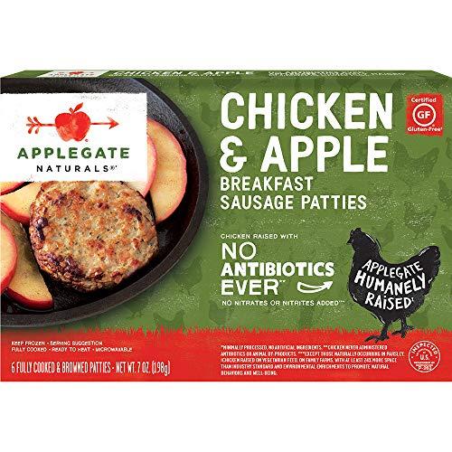 - Applegate, Natural Chicken & Apple Breakfast Sausage Patties, 7oz (Frozen)