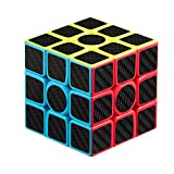 BUDI 3x3 Speed Cube Fast Smooth Cool Carbon Fiber Sticker Rubiks Cube Adjustable Magic Cube Time-Tested Brain Teasers Classic Cube Puzzle