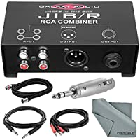 Galaxy Audio JIB/R Jacks In The Box Source Combiner Bundle with Cables and Fibertique Cloth