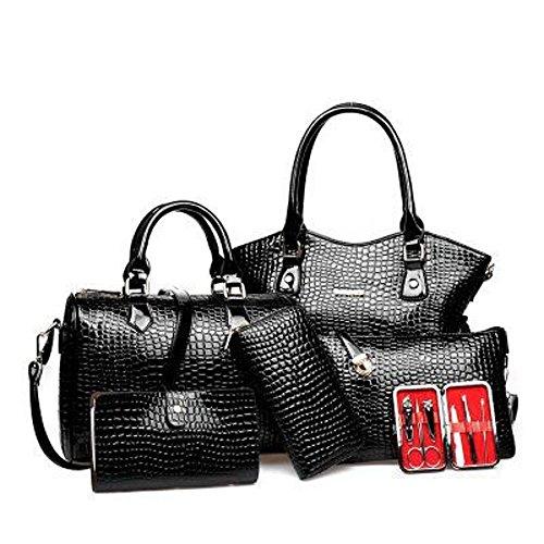 Crocodile cross main Aoligei Lady unique sac à sac tendance six pièces femme épaule modèle diagonale C fashion pack qHdHwFZ