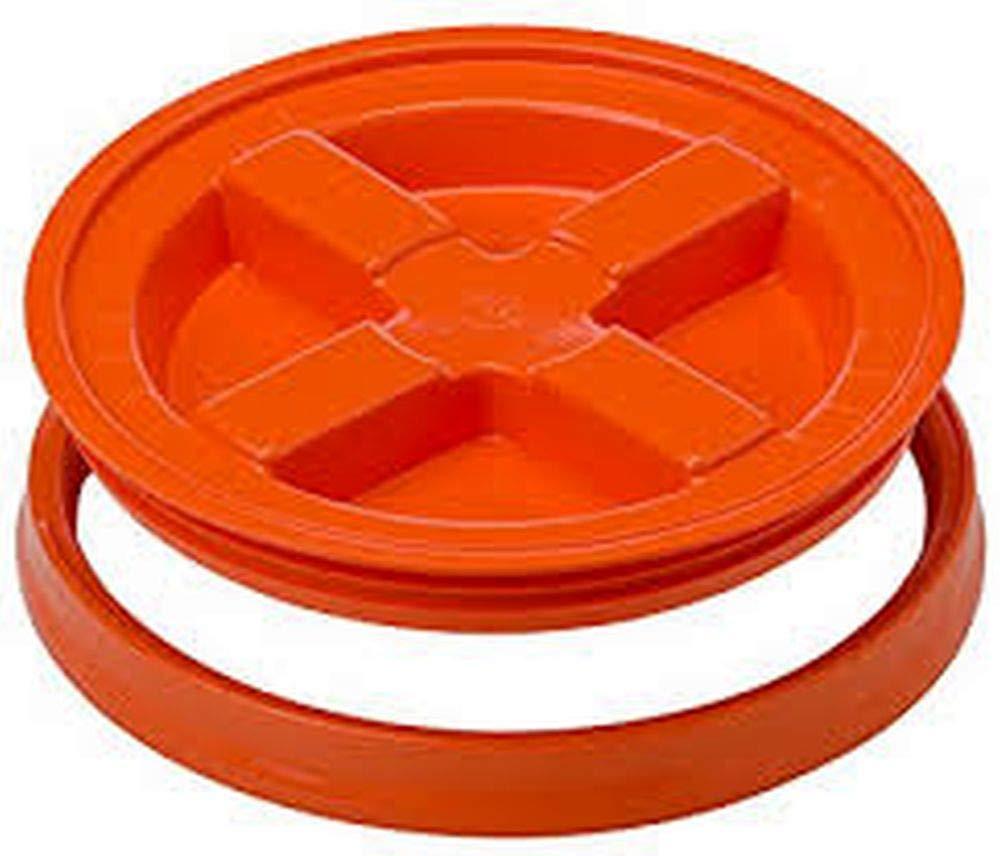5 Gallon Orange Gamma Seal Lid | 2 Pack
