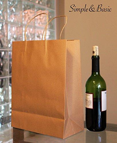 Kraft paper bags- 12 pcs- large size 10