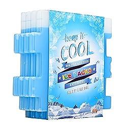 Oicepack Ice Packs,(set Of 4) Cool Packs For Lunch Box, Freezer Packs For Lunch Bags & Coolers,ice Pack Slim Reusable, Long-lasting Freezer Ice Packs, Ice Packs Great For Coolers,ice Cube Blue