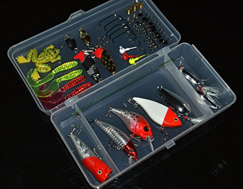 Entsport 39pcs Fishing Lures Set Vivid Fishing Lures Kit Life-like Colors Simulate Fishing Lures Fishing Tackle Set Collects Nearly all Accessories that Fishing Needs For Sale