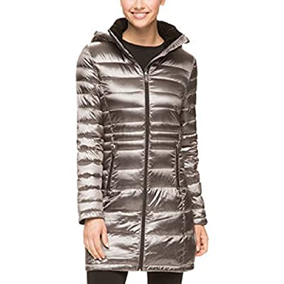 Andrew Marc Packable Lightweight Premium Down Long Jacket for Women