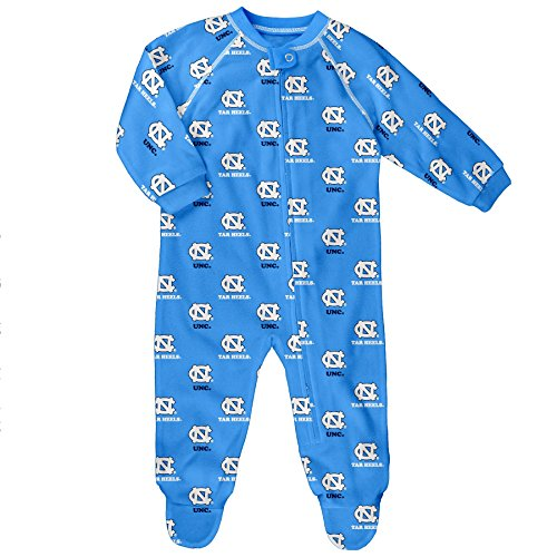 (NCAA by Outerstuff NCAA North Carolina Tar Heels Newborn & Infant Raglan Zip Up Coverall, Light Blue, 3-6 Months)