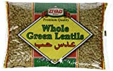 Ziyad Whole Green Lentils, Large, 32 Ounce (Pack of 12)