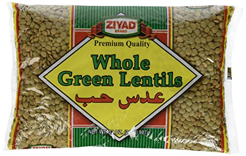 Ziyad Whole Green Lentils, Large, 32 Ounce (Pack of 12) by Ziyad