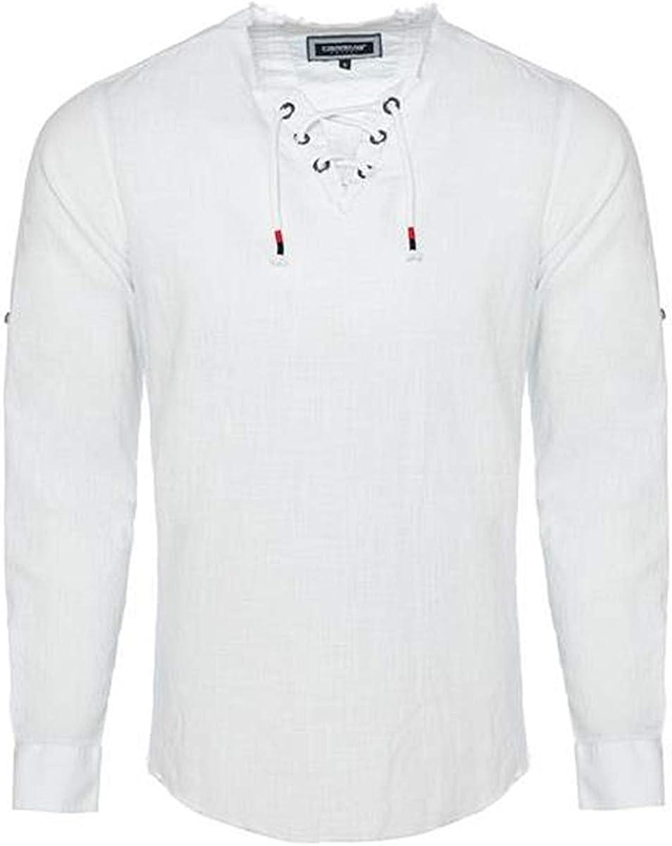 CARISMA Extravagantes CRM8490 - Camisa para hombre con lino, color blanco: Amazon.es: Ropa y accesorios