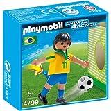 Playmobil Sports & Action - Jugador de fútbol Brasil (4799)