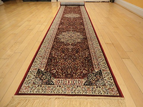 Luxury Red Silk Rugs Traditional Area Rugs 2x8 Hallway Red Rugs Kenareh Persian 2x7 Kitchen Narrow Area Rugs Foyer Area Rugs Red Runners (2'x8' Hallway Runner) -