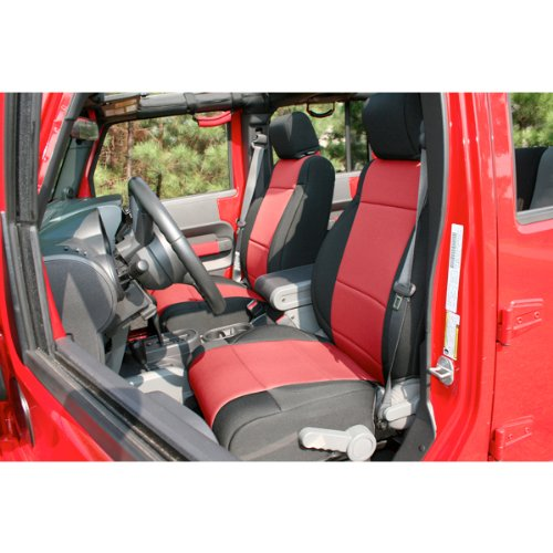 Rugged Ridge 13215.53 Black Neoprene Front Seat Cover ()