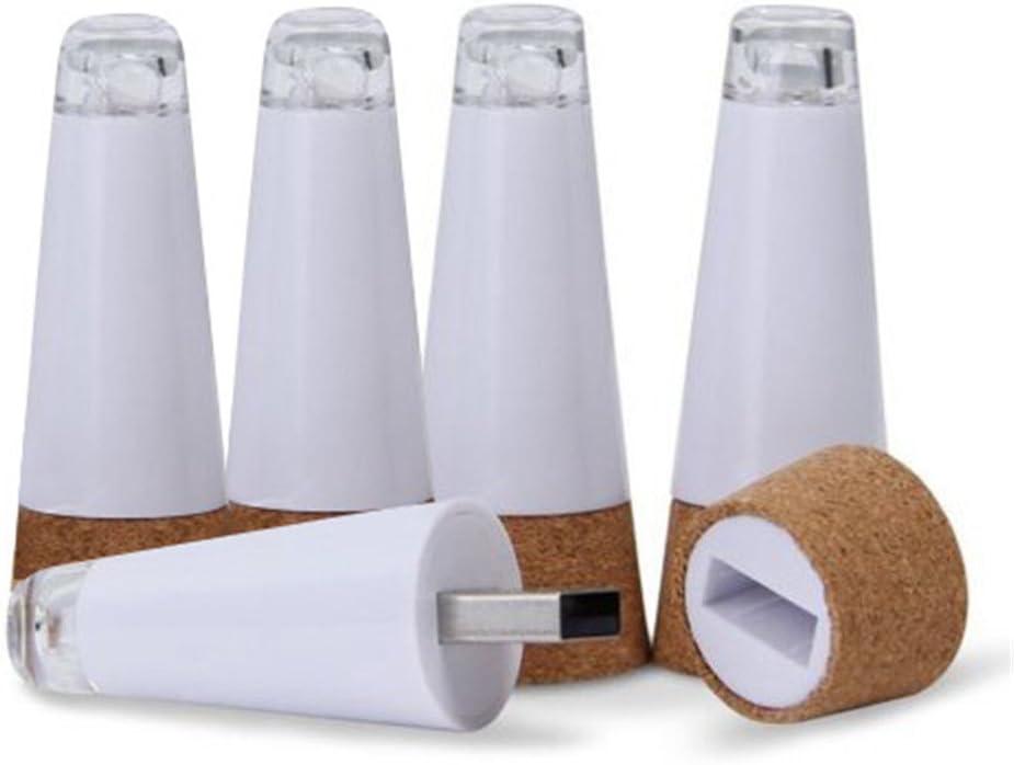Botella de vino LED de luz, recargables USB corcho Tope lámpara de ...
