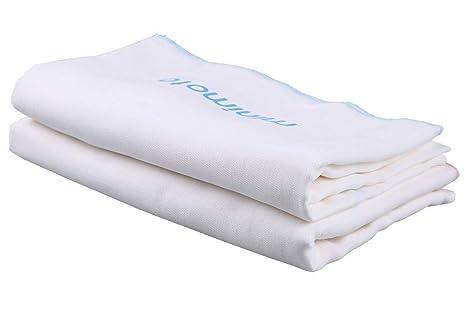 LANDGOO - Juego de toallas de baño para bebé, de muselina, cuadradas, toallas