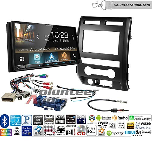 Volunteer Audio Kenwood Excelon Ddx8905s Double Din Radio Install Kit With Apple Carplay Android Auto Bluetooth Touchscreen Fits 2009 2010 Ford F 150 Black Retains Steering Wheel Controls
