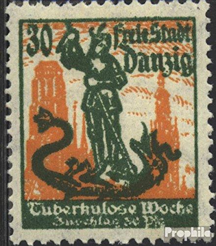 Prophila Collection Danzig 90 geprüft 1921 Tuberkulose (Briefmarken für Sammler) Gesundheit