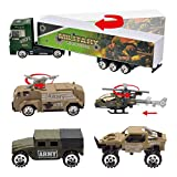JOYIN 10 in 1 Die-cast Military Truck Army Vehicle