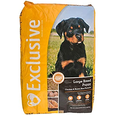 Exclusive | Large Breed Puppy Food | Chicken and Brown Rice Recipe | Nutritionally Complete - 30 Pound (30 lb) Bag