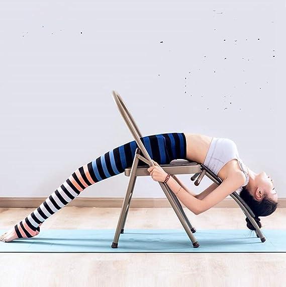 FITNESS-HU Silla De Yoga Iyengar Silla De Yoga PU Plegable ...