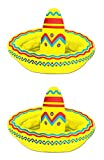 "Beistle S50254AZ2 Inflatable Sombrero Coolers, 18"" x 12"", Multicolored, 2 Piece"