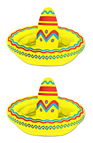 Inflatable Sombrero - Beistle S50254AZ2 Inflatable Sombrero Coolers, 18