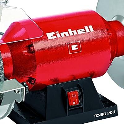 Einhell TH-BG 200 - Esmeriladora, disco 200 mm, 400 W, 230 V, color rojo y negro