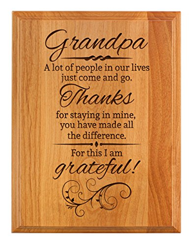 (ThisWear Grandpa Gifts Thanks for Staying in My Life Father Day Gifts for Grandpa 7x9 Oak Wood Engraved Plaque Wood )