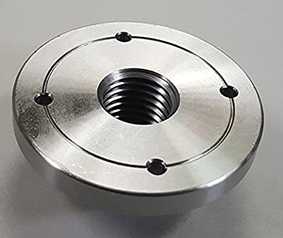 """3"""" HD Steel Wood Lathe Face Plate, 1"""" x 8tpi Threaded by Maxwood"""
