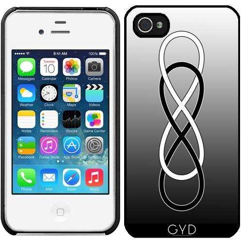 Coque pour Iphone 4/4S - Double Infinité Blanc Noir by EDDA