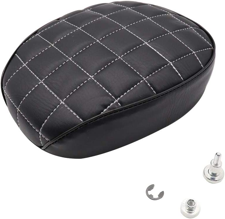 GOOFIT Passenger Seat Rear Cushion Compatible with Harley Sportster Iron 883 1200 XR1200 Forty Eight 48 XL1200X 2004-2017 Seventy Two 72 XL1200V 2004-2017(Rhombus)