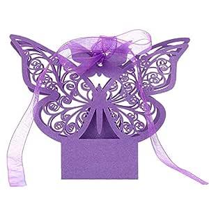 20 pcs bomboneras Mariposa láser Cut Wedding Suits Box Cumpleaños ...