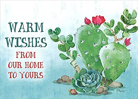 Amazon Com Holiday Cactus Warm Wishes Paul Brent Western Lpg