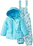 Pink Platinum Baby Girls' Camo Snowsuit, Turquiose, 18 Months