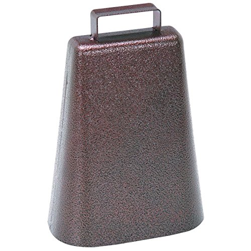 Salsa Timbale Cowbell (STEEL COW BELL Antique Style Copper Finish Cowbell Music Sports Pep Rally Cheer!)