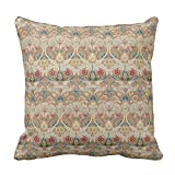 fine patio cover design ideas Yutoa-Design Fine Art William Morris Floral Embroidery Throw Pillow Cover Sofa Home Decorative Throw Pillow Case Gift Ideas Household Zippered Cushion Covers 18X18Inch