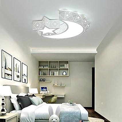 Amazon.com: Modern LED ceiling lamp stars moon children bedroom ...