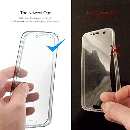 iPhone 6S / 6 Funda, Leathlux Cover iPhone 6S Gel Silicona Carcasa Transparente TPU full Protección Delanteros y Traseros Case para iPhone 6S / 6 4.7