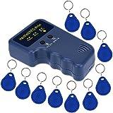 Sdreamland RFID Copier,Rfid Reader Writer Handheld 125khz RFID Duplicator for Access Control Keys with 125 khz Rfid ID Card Reader + 10PCS EM4305 Fob Keys