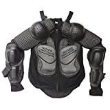 kids atv gear - ZXTDR Kids Full Body Armor Protective Gear Jackets Children Mesh Clothing for Motorcycle Motocross Dirt Bike Racing Sports ATV Safety Guard Armored Protector Black (S)
