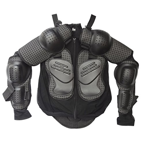 ZXTDR Kids Full Body Armor Protective Gear Jackets Children Mesh Clothing for Motorcycle Motocross Dirt Bike Racing Sports ATV Safety Guard Armored Protector Black (XS)