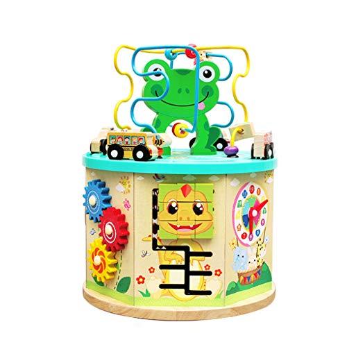 YUBINK Activity Box Beaded Maze Multi-Function Educational Children's Toys (US Stock) (Multicolor)