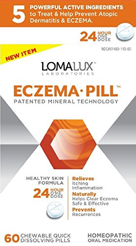 Price comparison product image Loma Lux Laboratories Homeopathic Supplement, Eczema, 60 Count (3 Pack)